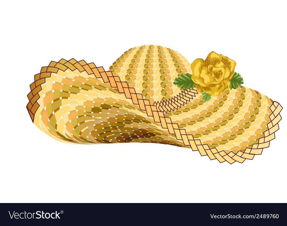 Sun woman hat vector image