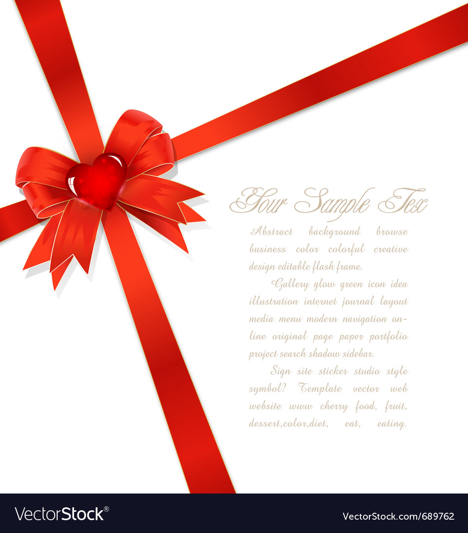 Red gift bows royalty free vector image vectorstock red gift bows vector image negle Images