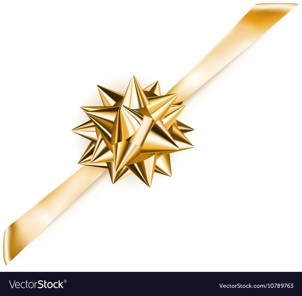 Beautiful shiny bow vector image