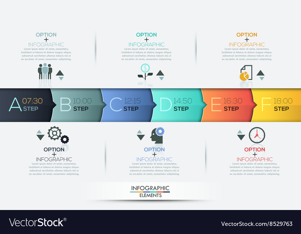Business Timeline Infographic Template Royalty Free Vector