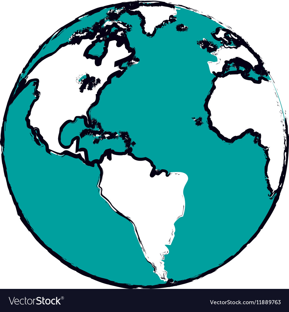 Cartoon globe map world earth business icon vector image cartoon globe map world earth business icon vector image sciox Images