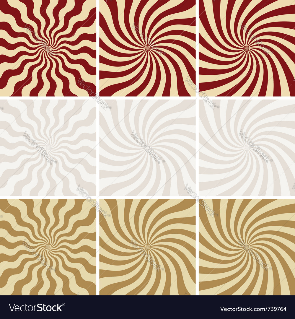 Retro background set of star burst vector image
