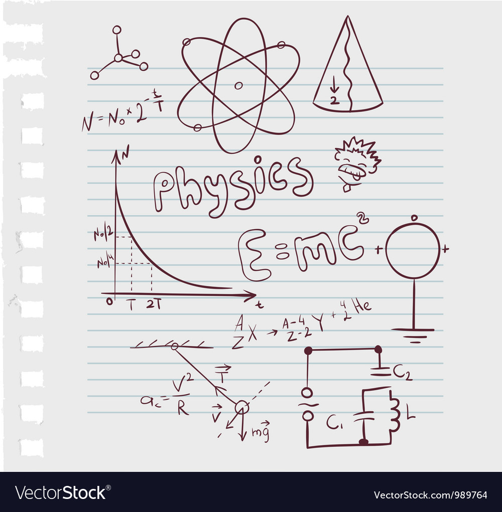Physics paper Vector Image