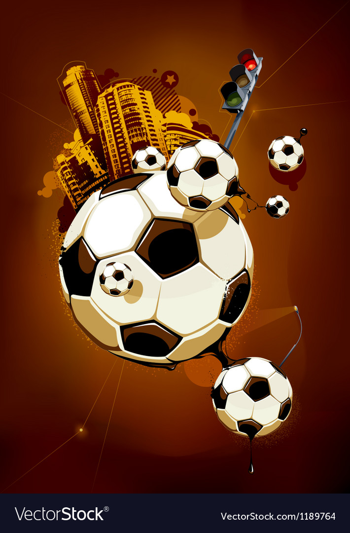 Funky football background vector image