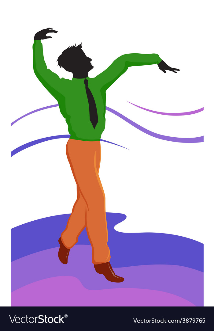 Dancing guy vector image