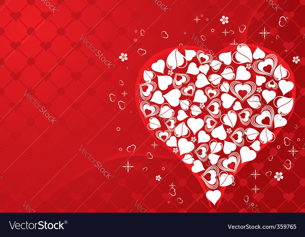 Valentines day background Royalty Free Vector Image