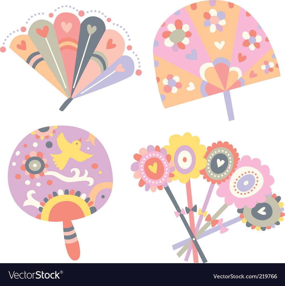 Cute fans vector image