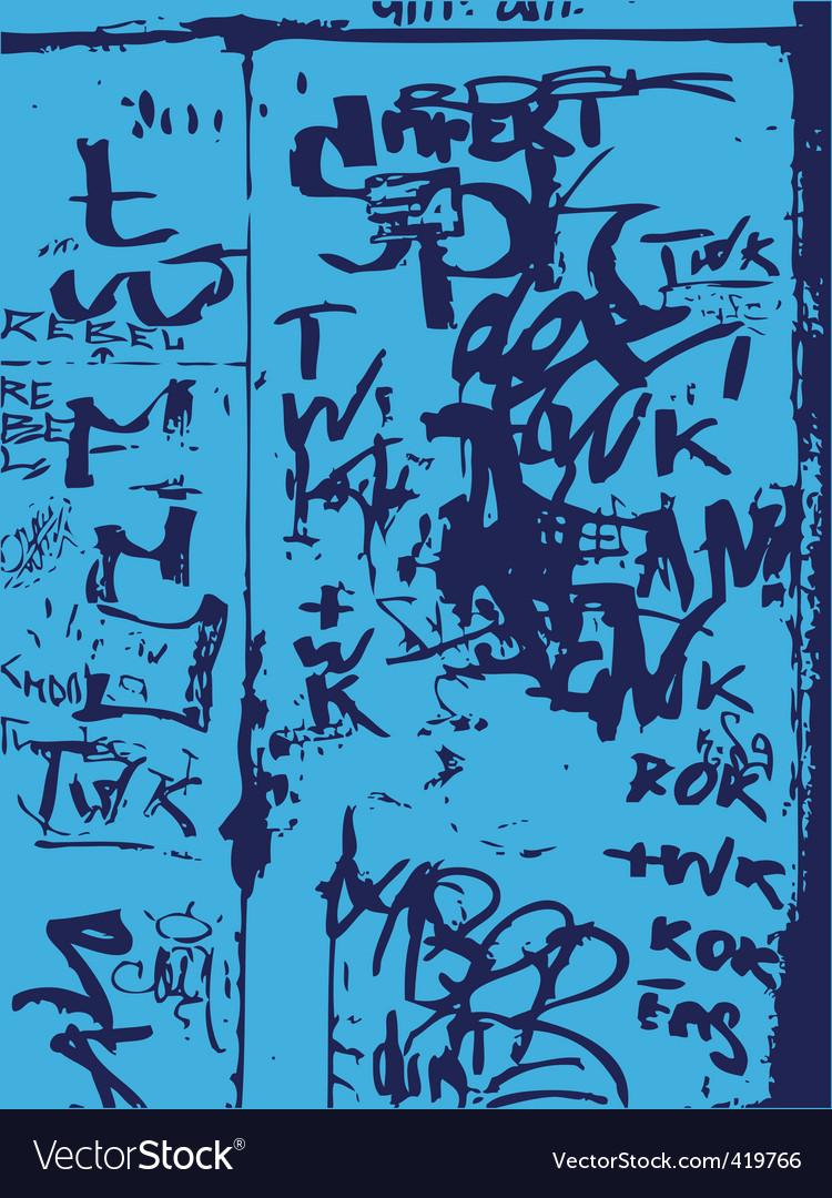 Graffiti wall vector image