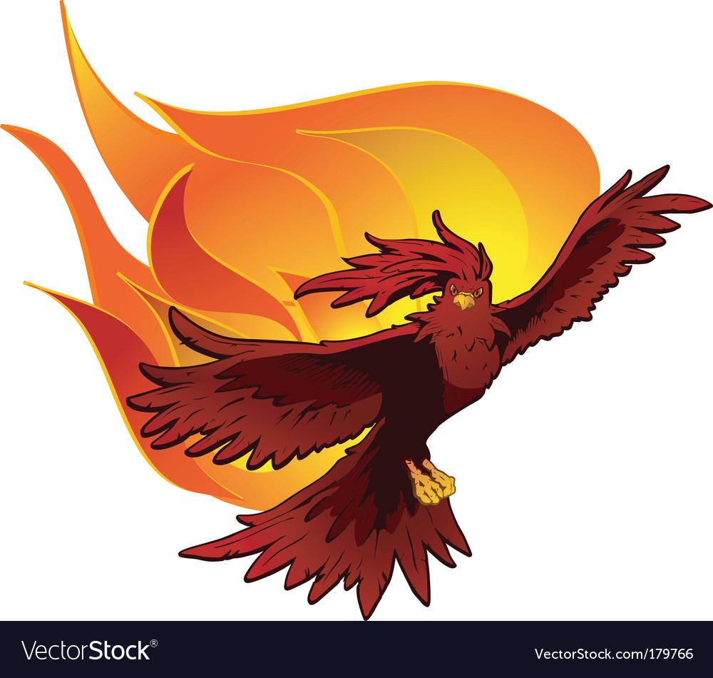 Phoenix in flight vector image
