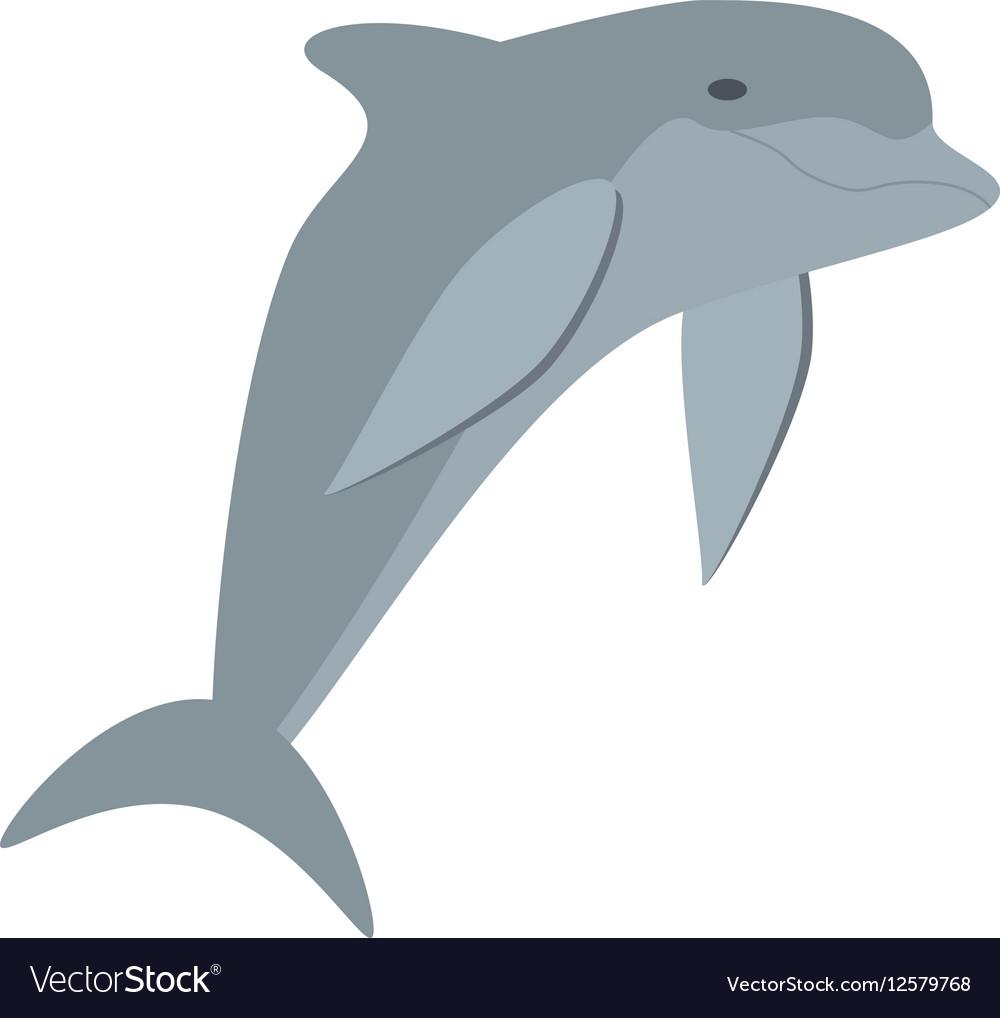 Dolphin ocean fish friendly cute vector image