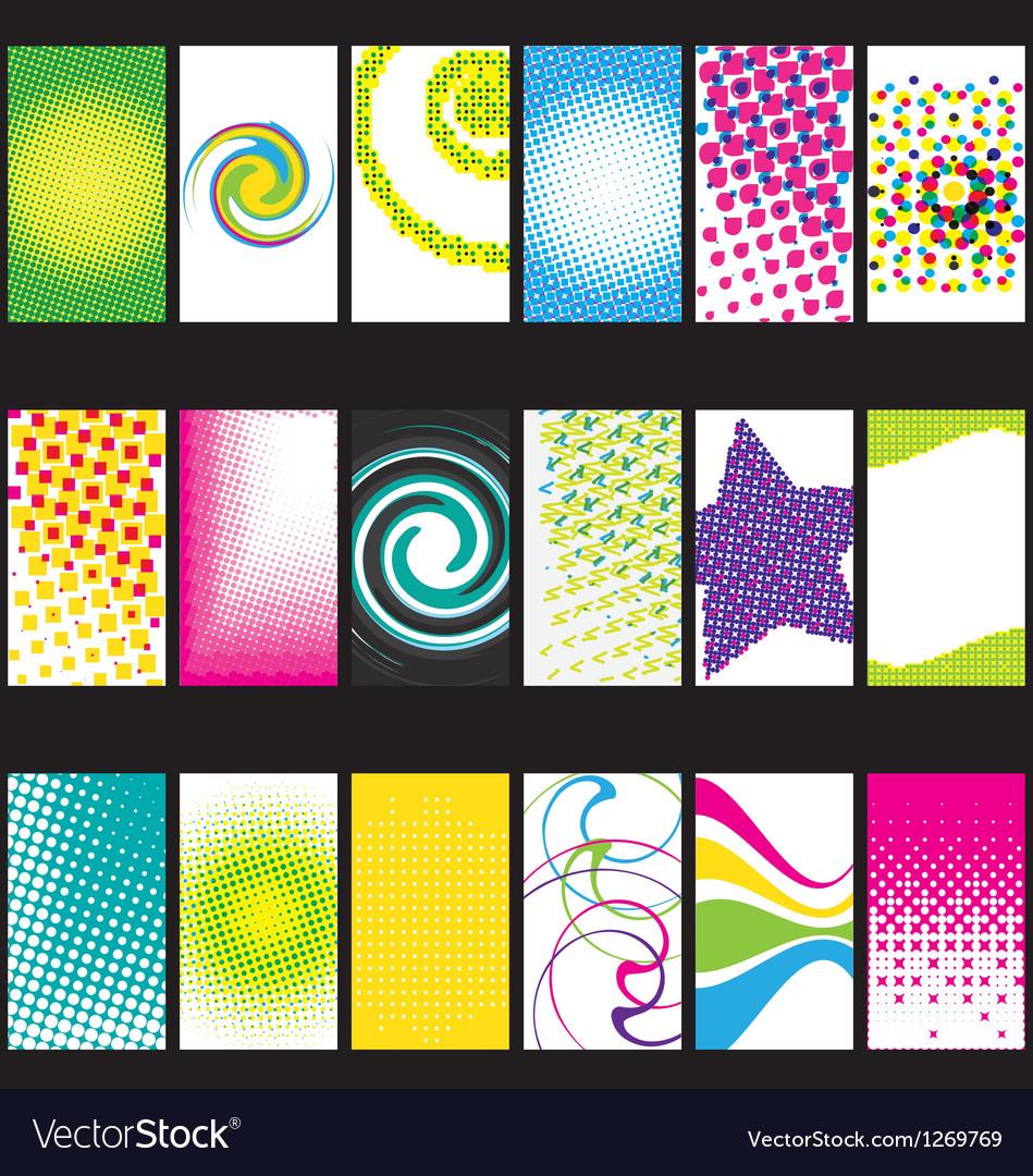 Business acrds set VI vector image