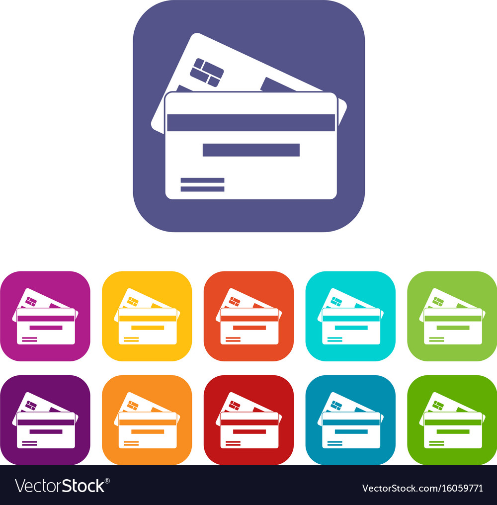 credit card icons set royalty free vector image rh vectorstock com credit card icons vector credit card icons vector free download