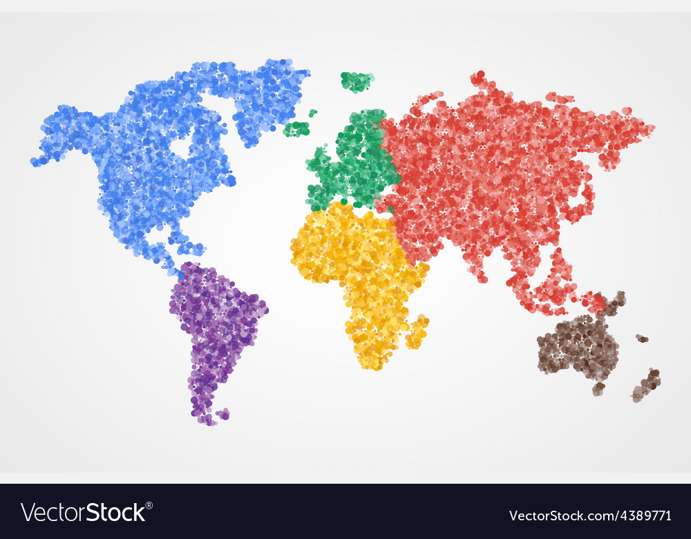 Dotted Round World Map Abstract Royalty Free Vector Image - Round world map image