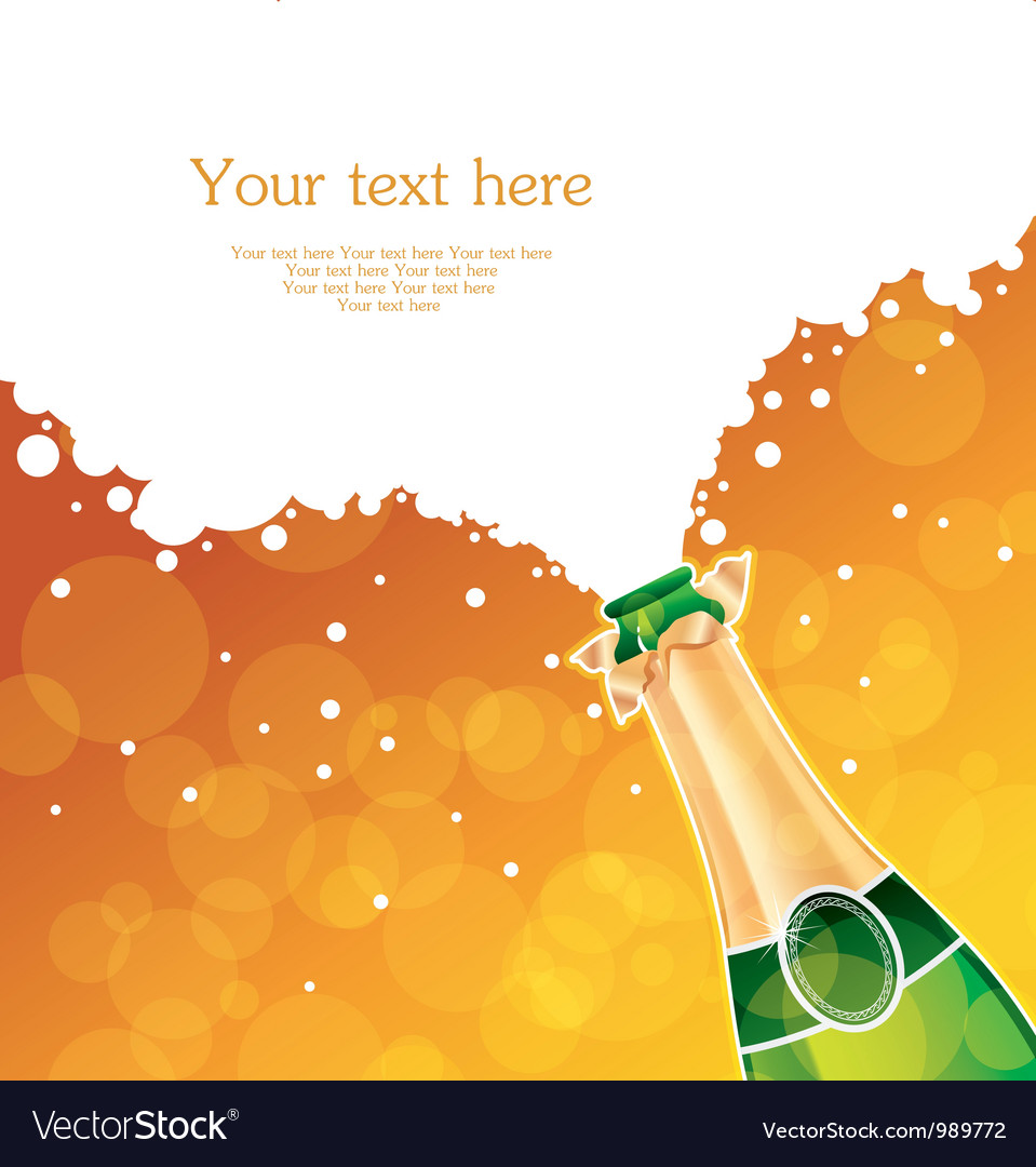 Champagne back vector image
