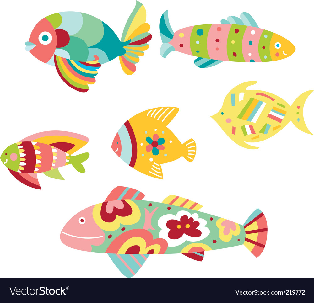 Colorful fish vector image