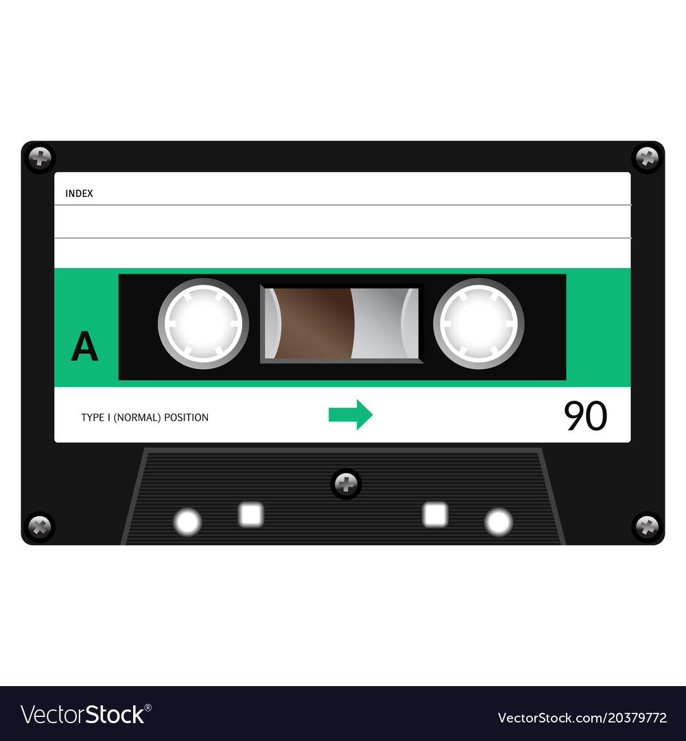 vintage audio cassette tape design royalty free vector image. Black Bedroom Furniture Sets. Home Design Ideas