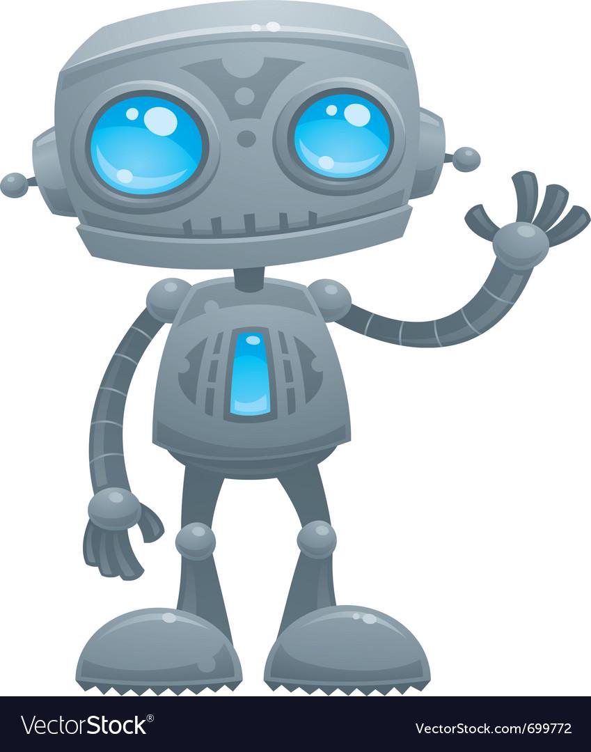 Waving robot vector image