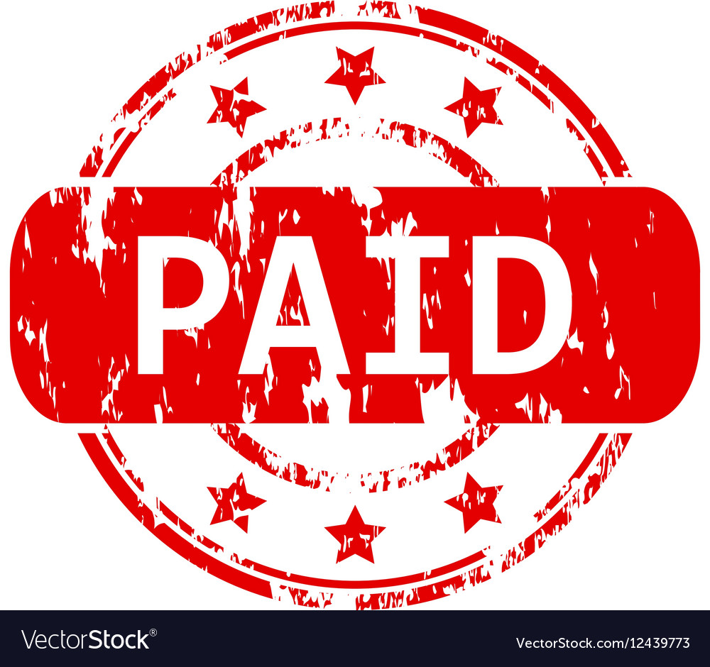 Paid rubber stamp vector image