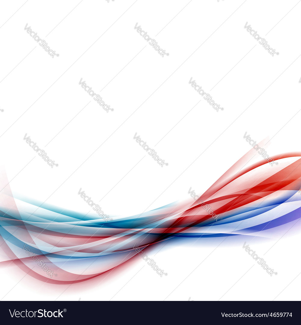 Blue red swoosh speed vivid line fusion vector image