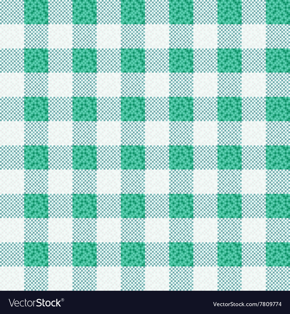 Green Fabric Texture Backgroun Vector Image
