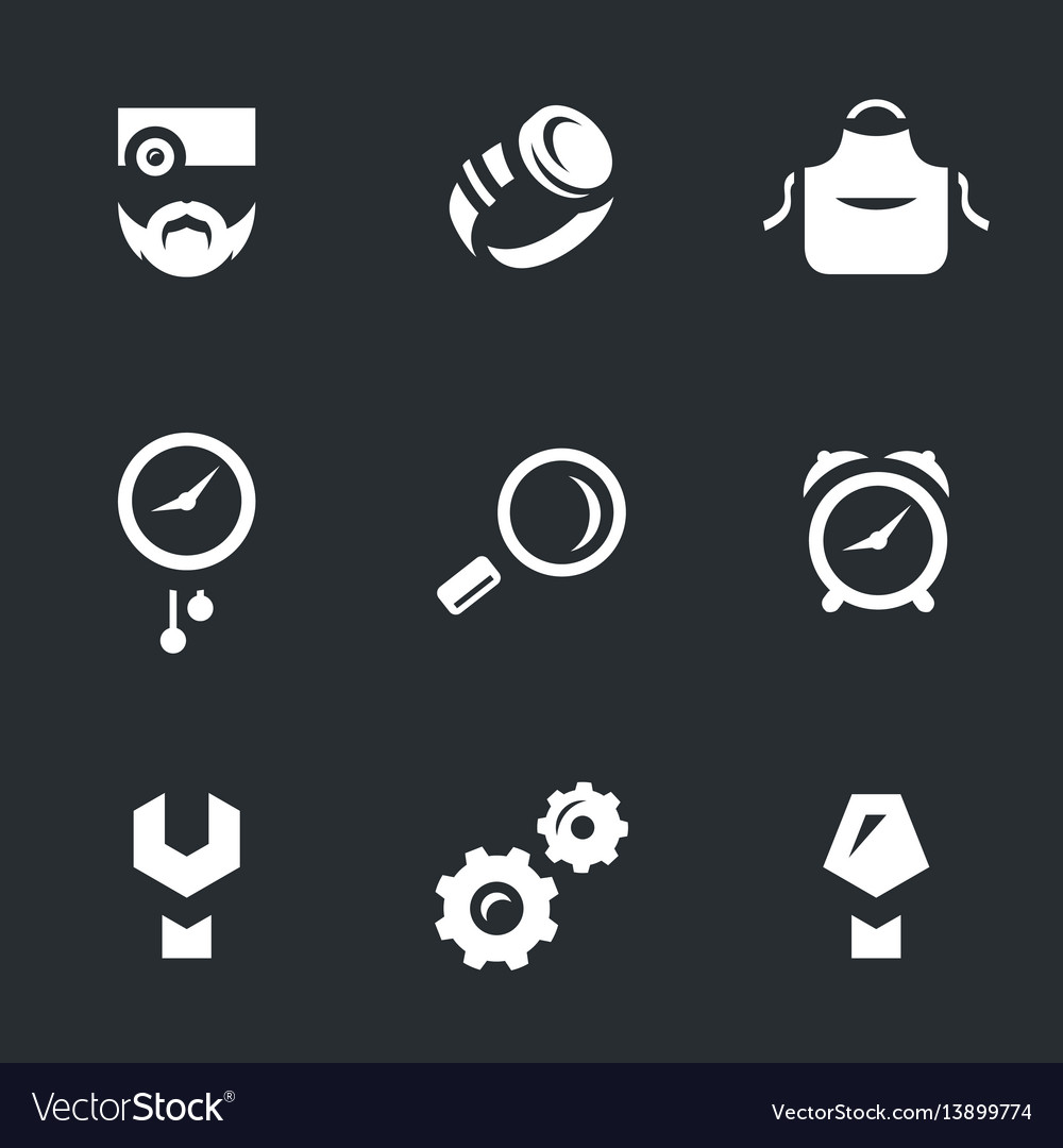 Set of watchmaker icons vector image