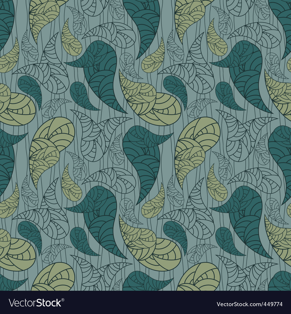 Vector seamless paisley background vector image