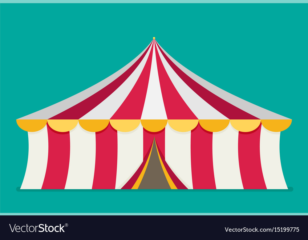 Circus tent flat design vector image  sc 1 st  VectorStock & Circus tent flat design Royalty Free Vector Image
