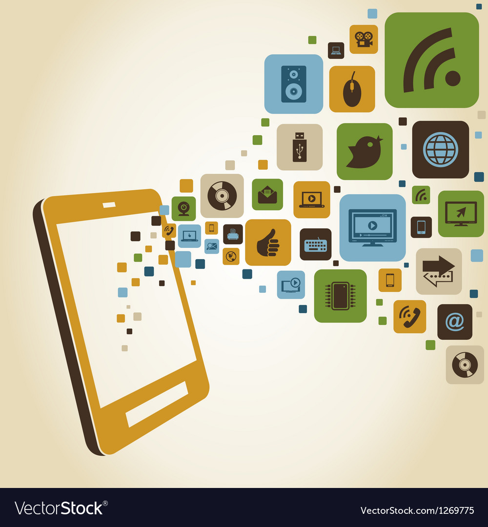 Smart phones functions vector image