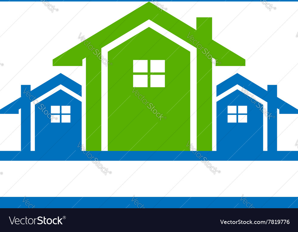 House for real estate logo vector image