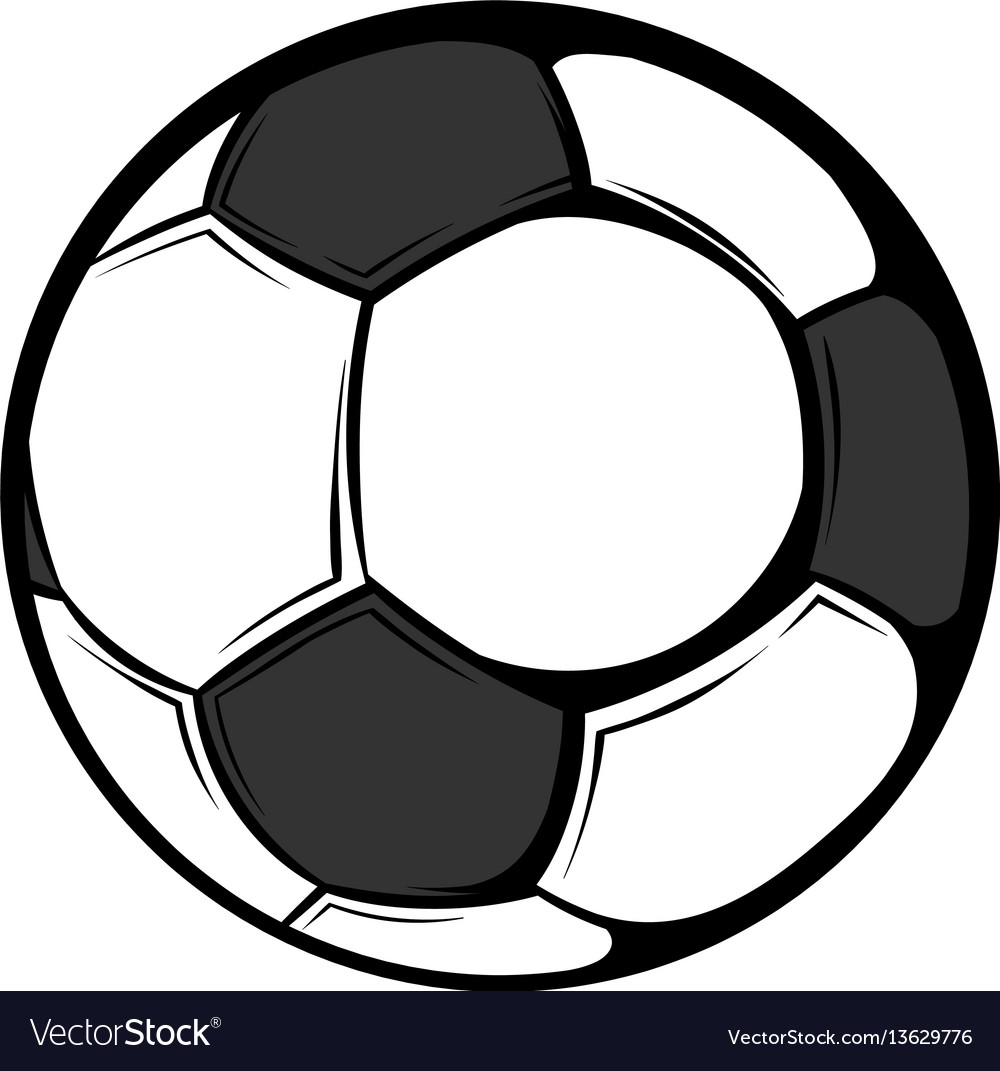 Soccer ball icon cartoon vector image