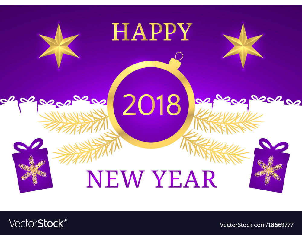 Happy new year 2018 banner Royalty Free Vector Image