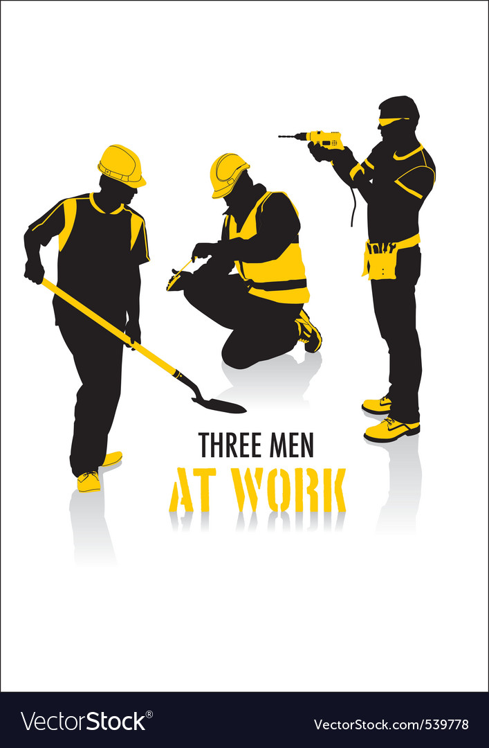 Men at work vector image