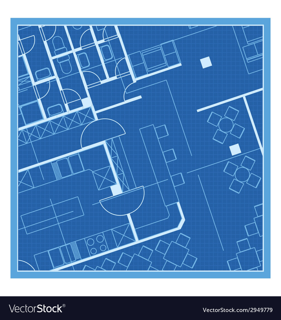 House plan blueprint Royalty Free Vector Image
