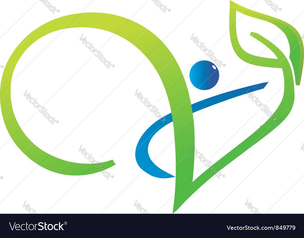 Vitality life swoosh vector image