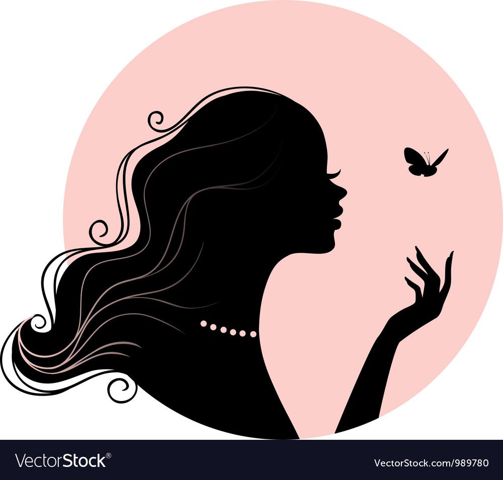 Silhouette profile vector image
