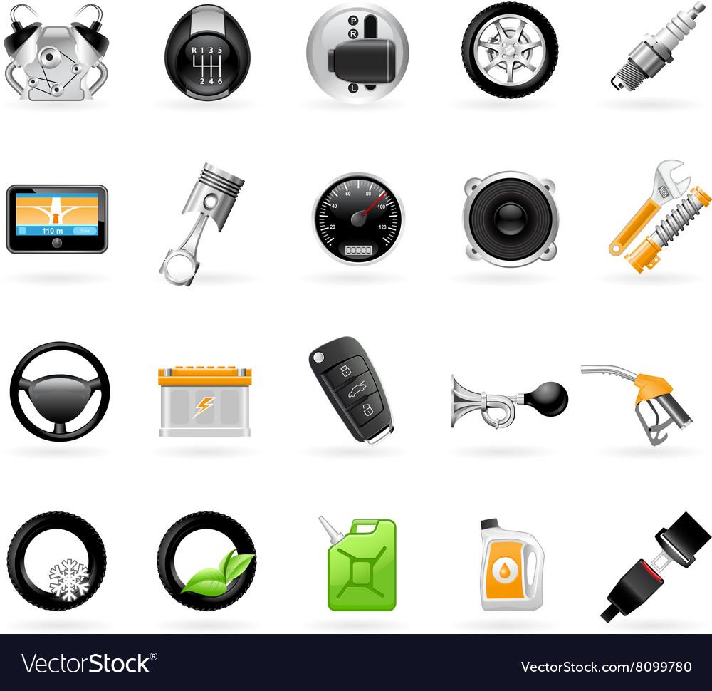 Vehicular service center car maintenance station vector image