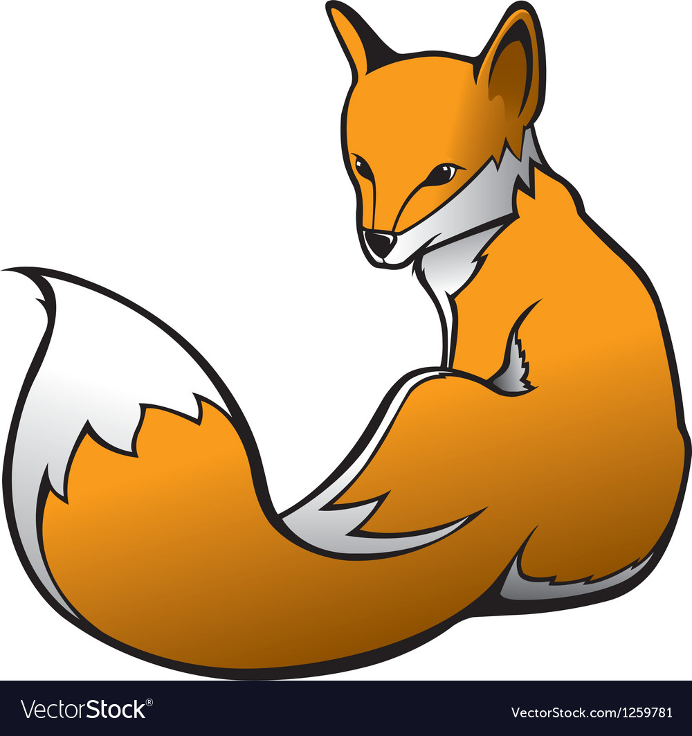 Fox 1 vector image
