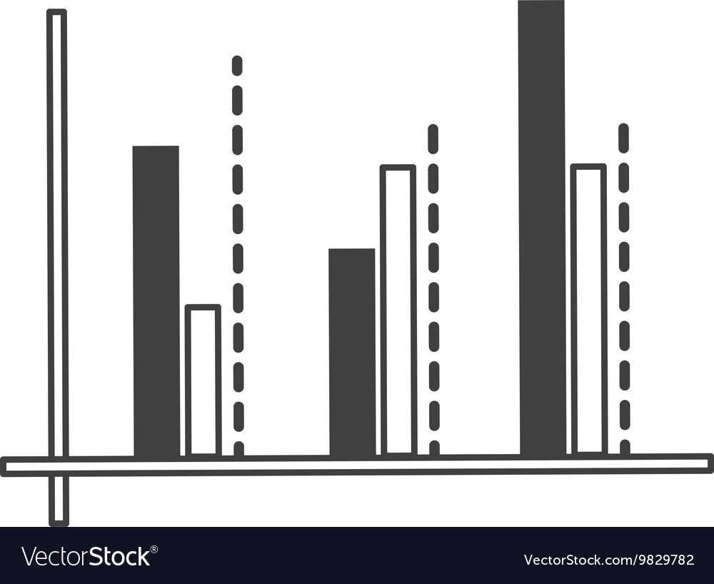 Graph chart icon vector image