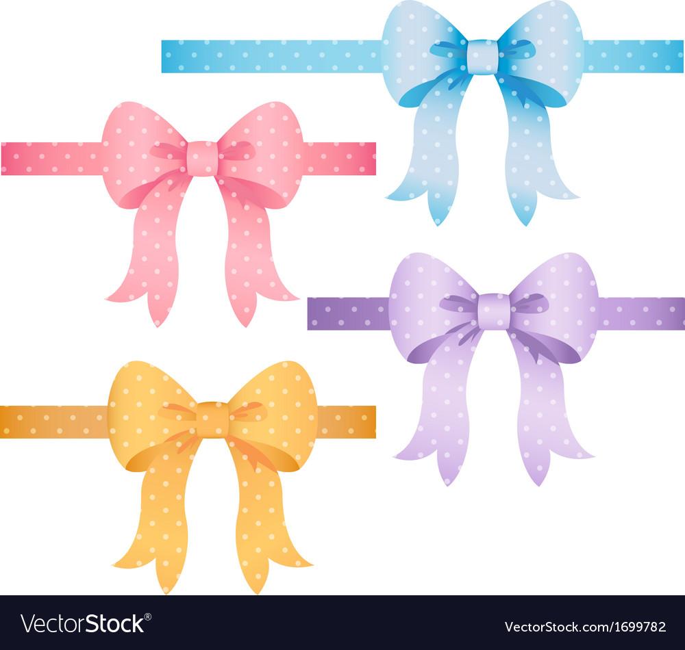 Polka Dot Bow Set vector image