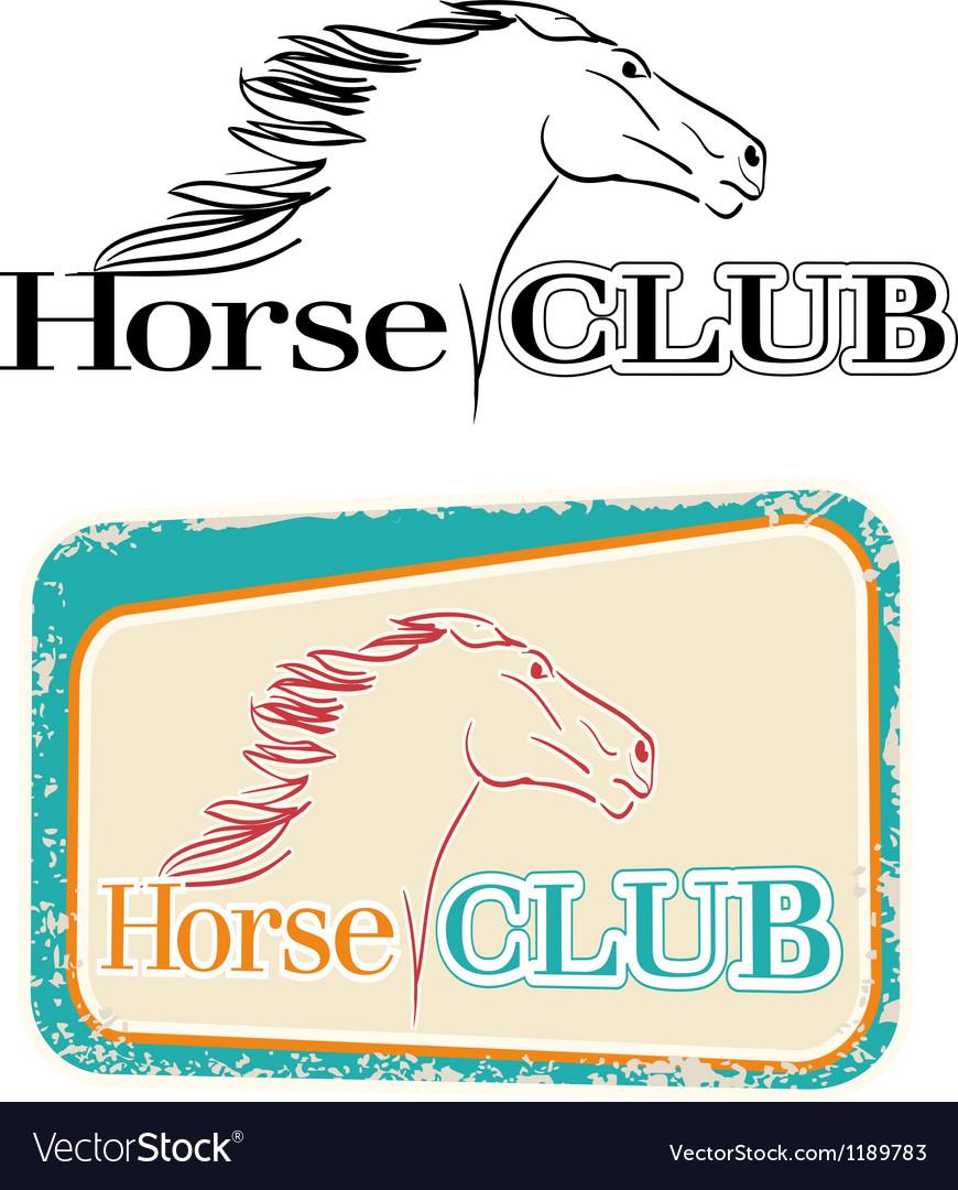 Horse club vector image