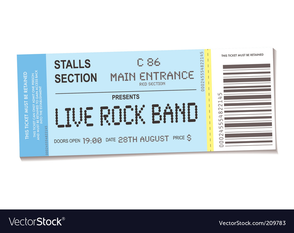 Concert ticket vector image