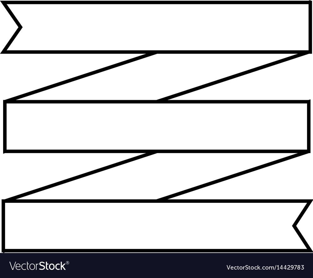 Ribbon icon image vector image