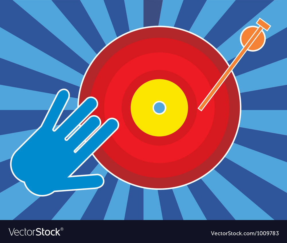 Vintage record player vector image