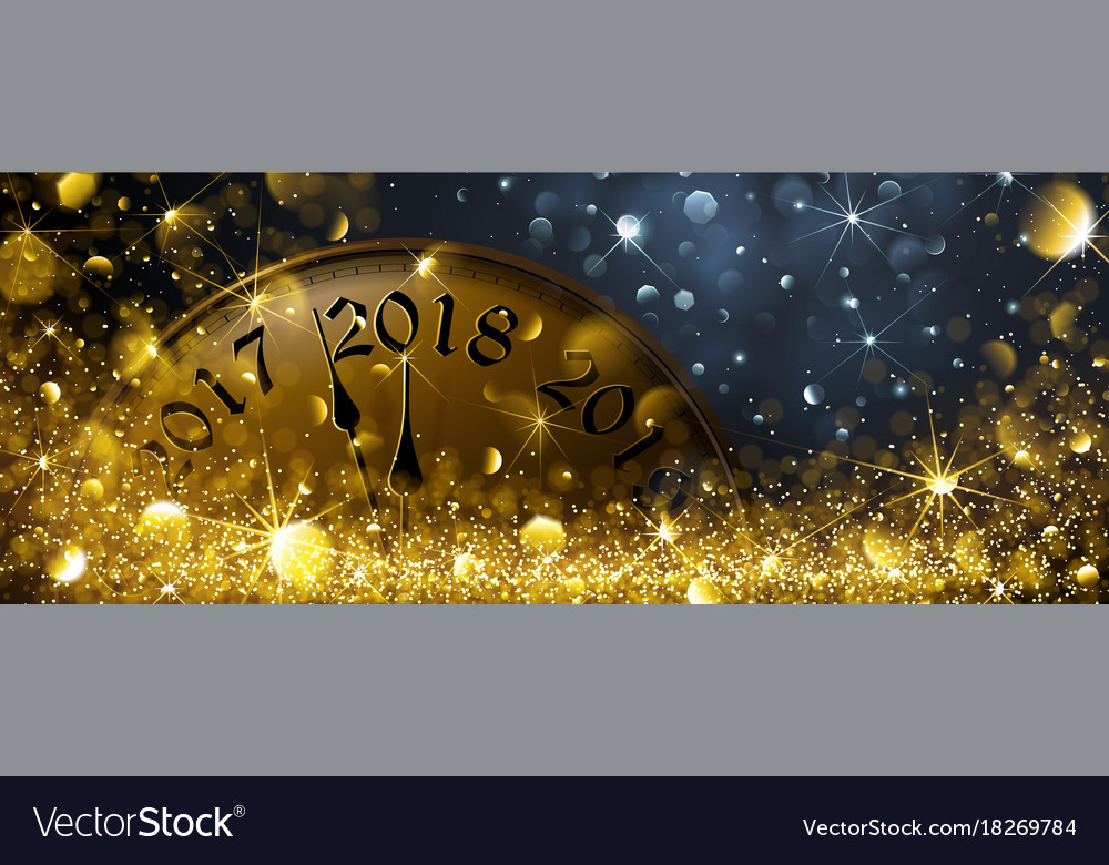 New year eve 2018 vector image