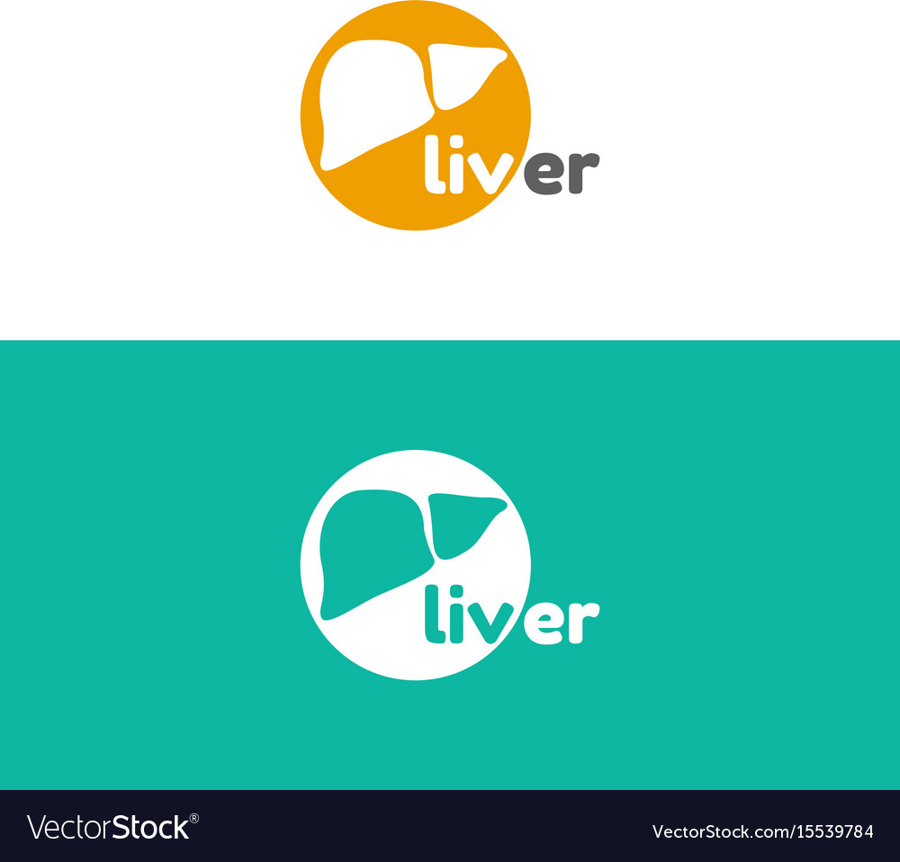 Template logo for liver hepatology clinic vector image