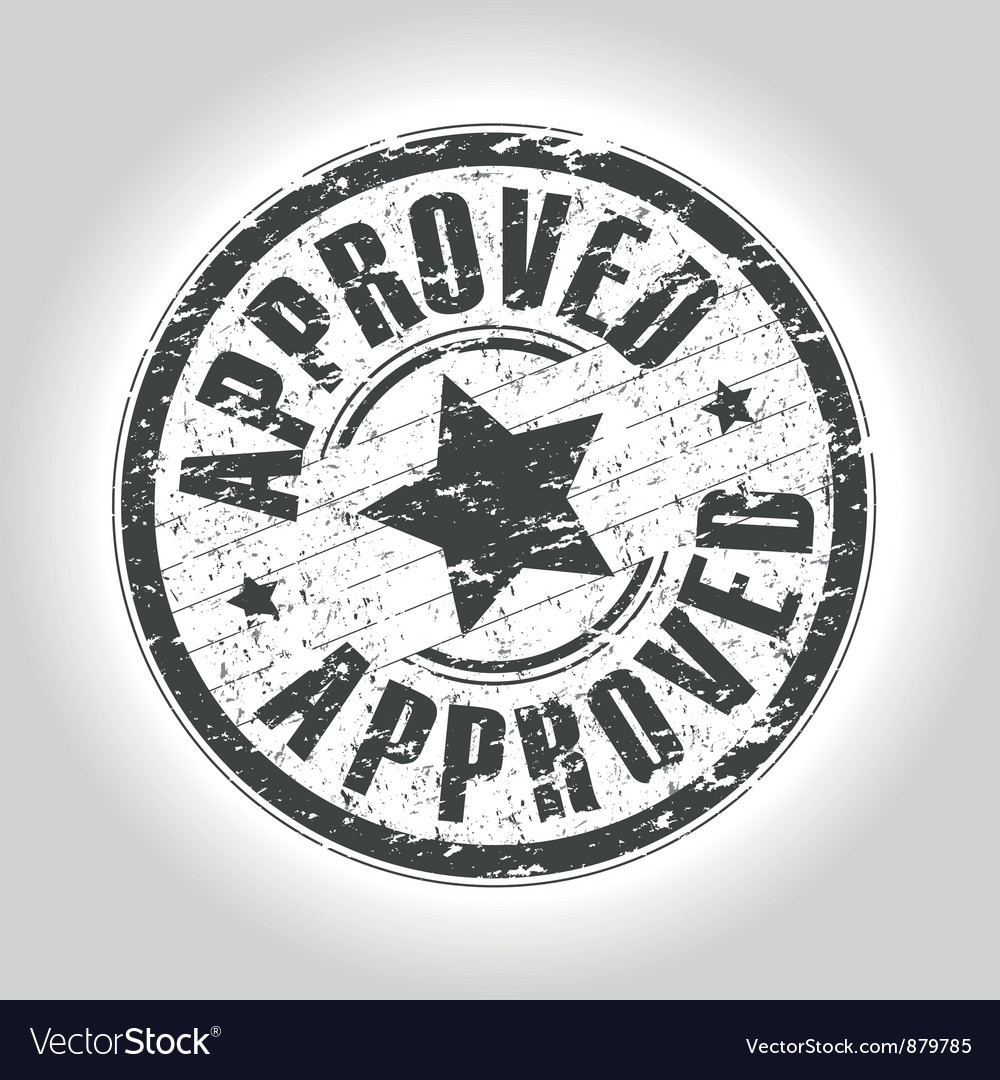 Approved vector image