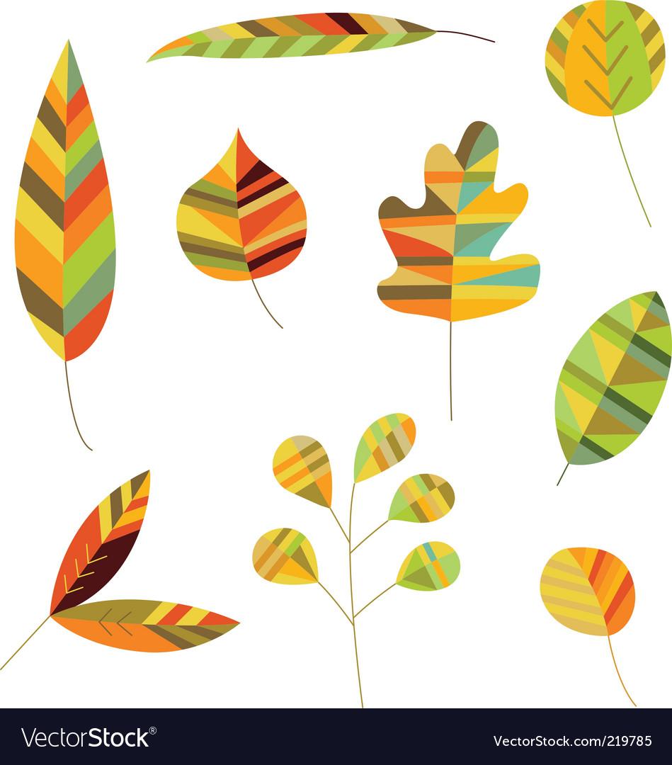 Decorative foliage vector image
