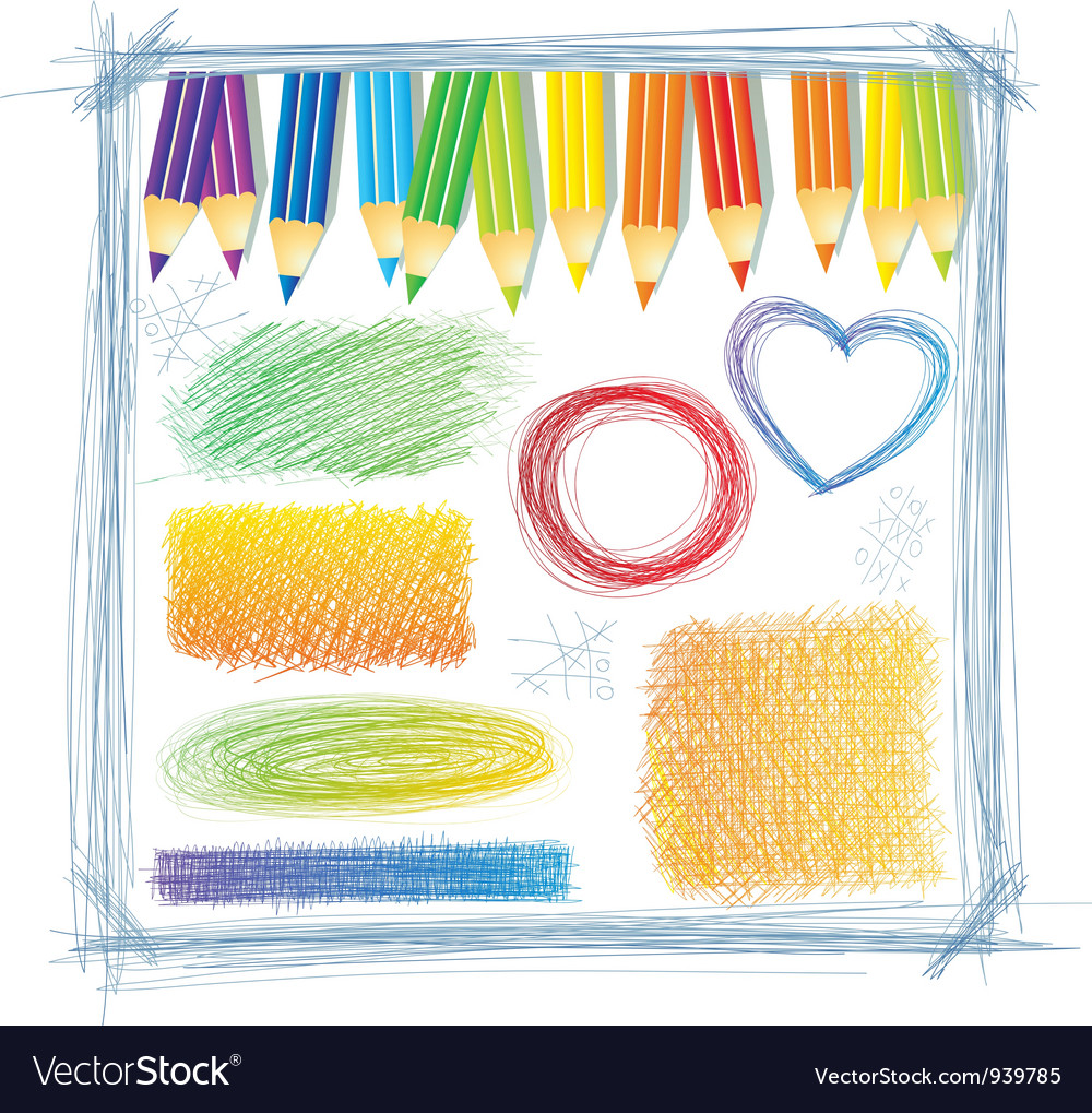 Line drawings vector image