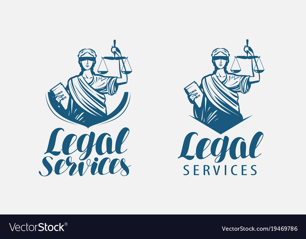 Legal services logo notary justice lawyer icon vector image