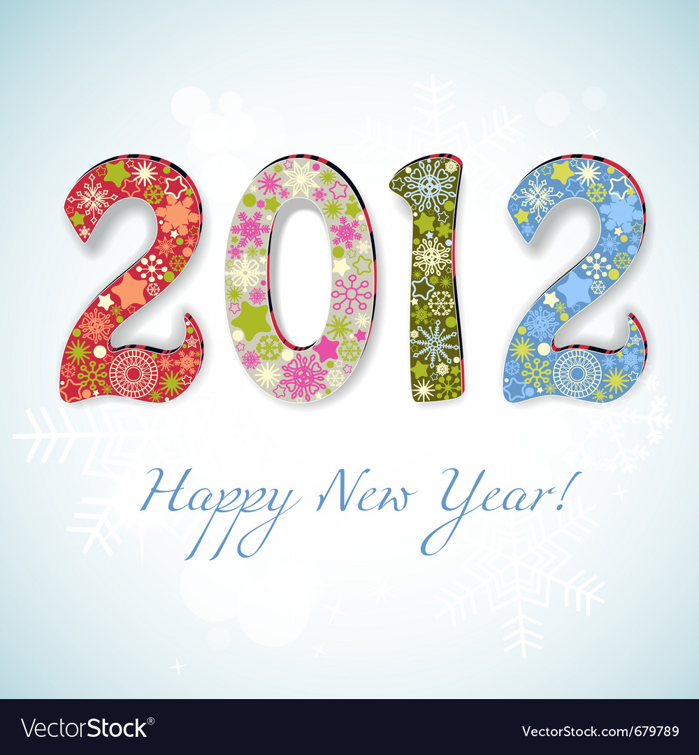 New year 2012 number vector image